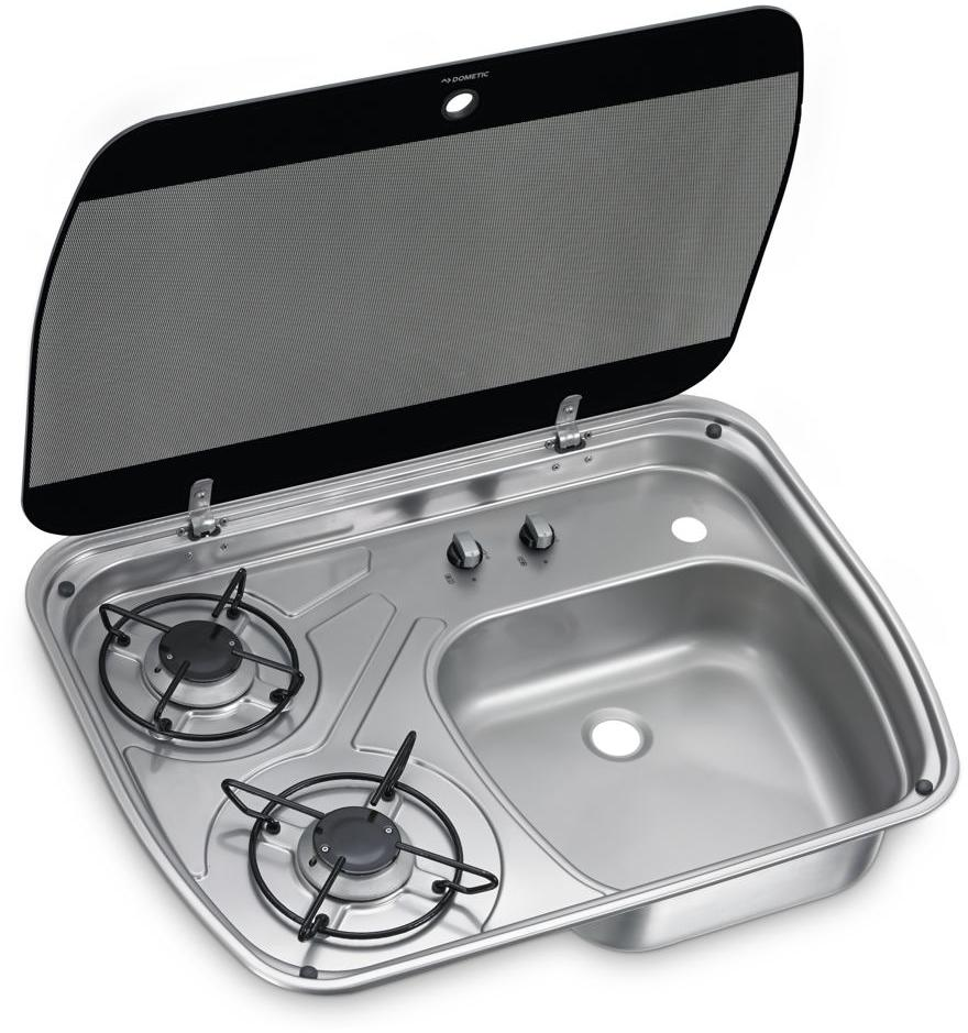 Gaskocher und Spüle Kombination Dometic HSG 2445 im Wohnmobil