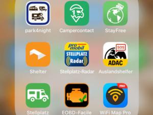 Stellplatz-Suche mit dem Wohnmobil – die besten Apps & Tricks